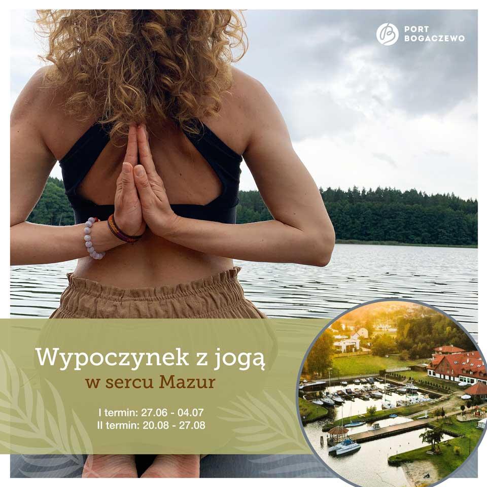 Wypoczynek z jogą w sercu Mazur
